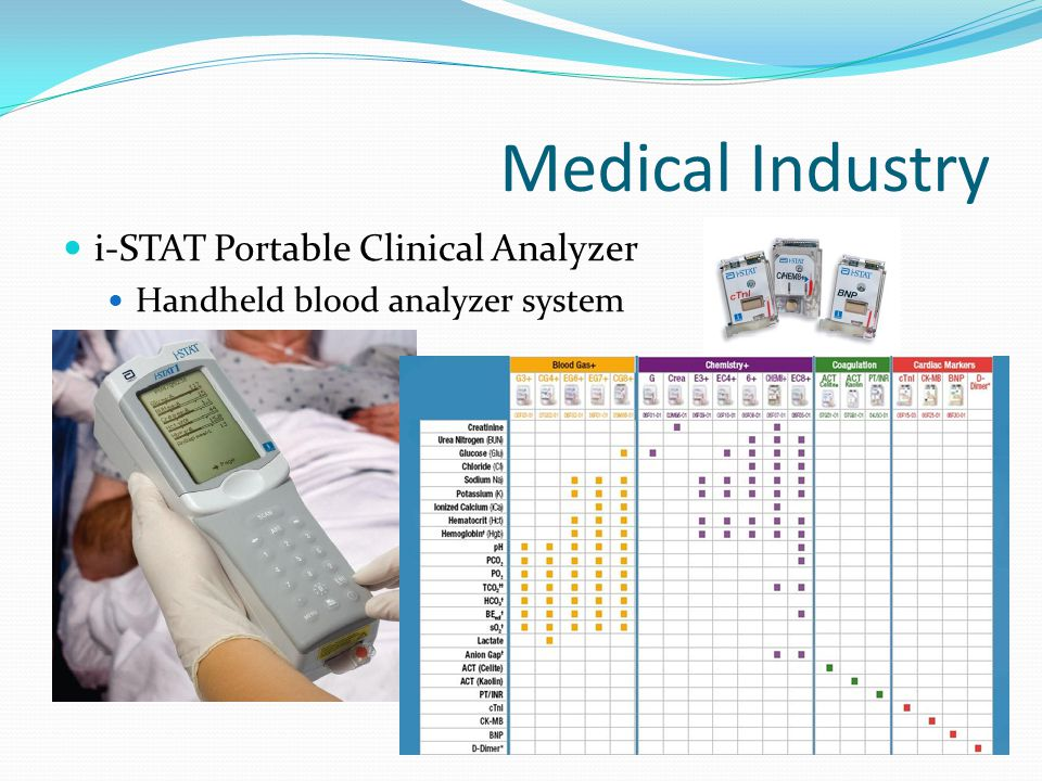 Medical Industry i-STAT Portable Clinical Analyzer Handheld blood analyzer system