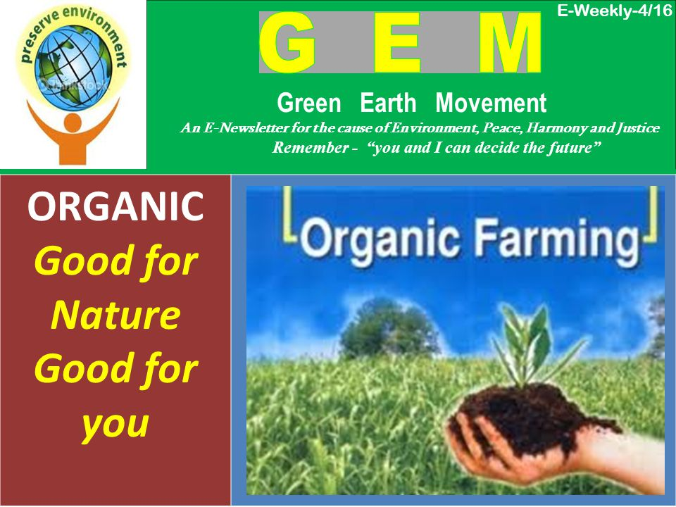 WHAT IS ORGANIC FARMING Organic farming is a form of agriculture that relies on techniques such as crop rotation, green manure compost and biological pest control.