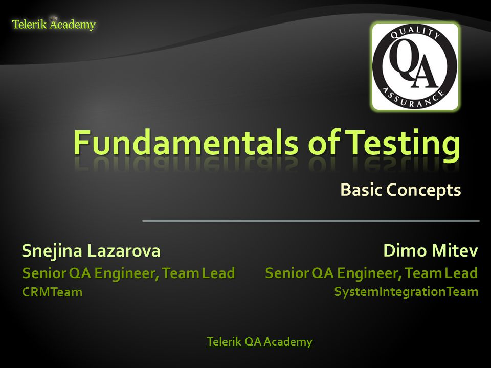  Testing can give confidence in the quality of the software if it finds few or no defects  If defects are found, the quality increases when those defects are fixed  Lessons learnt from previous mistakes improve future performance 12