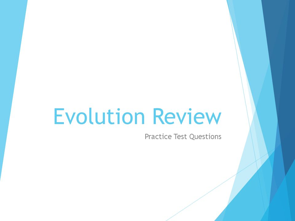Evolution Review Practice Test Questions