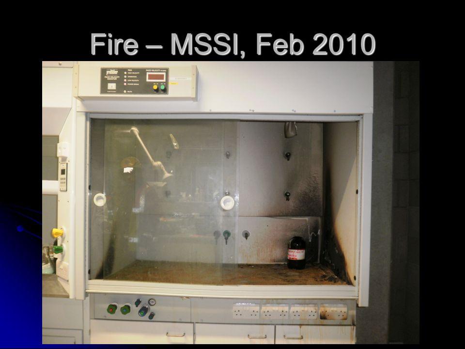 Fire – MSSI, Feb 2010