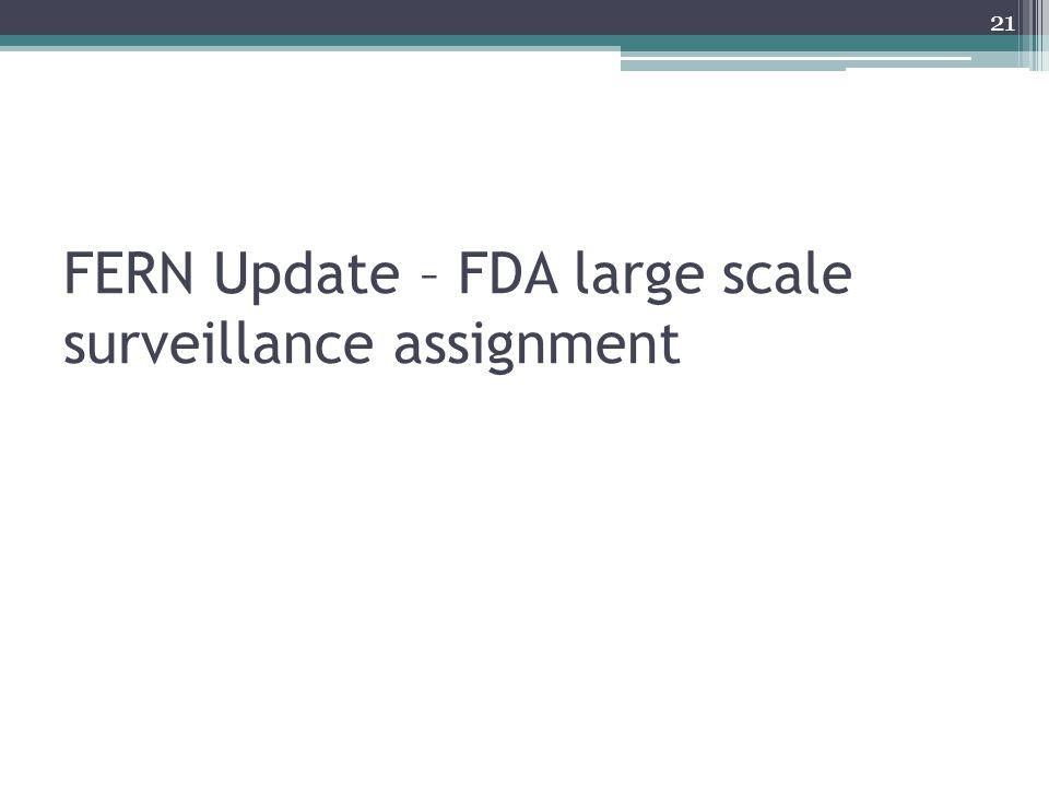 FERN Update – FDA large scale surveillance assignment 21