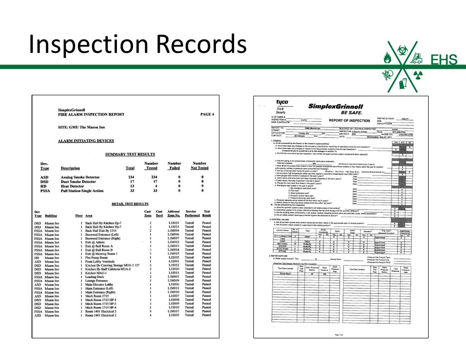 Inspection Records