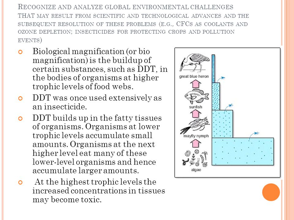 R ECOGNIZE AND ANALYZE GLOBAL ENVIRONMENTAL CHALLENGES THAT MAY RESULT FROM SCIENTIFIC AND TECHNOLOGICAL ADVANCES AND THE SUBSEQUENT RESOLUTION OF THE