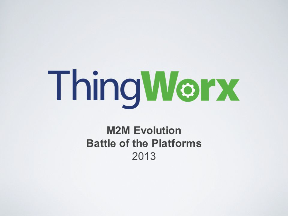 M2M Evolution Battle of the Platforms 2013