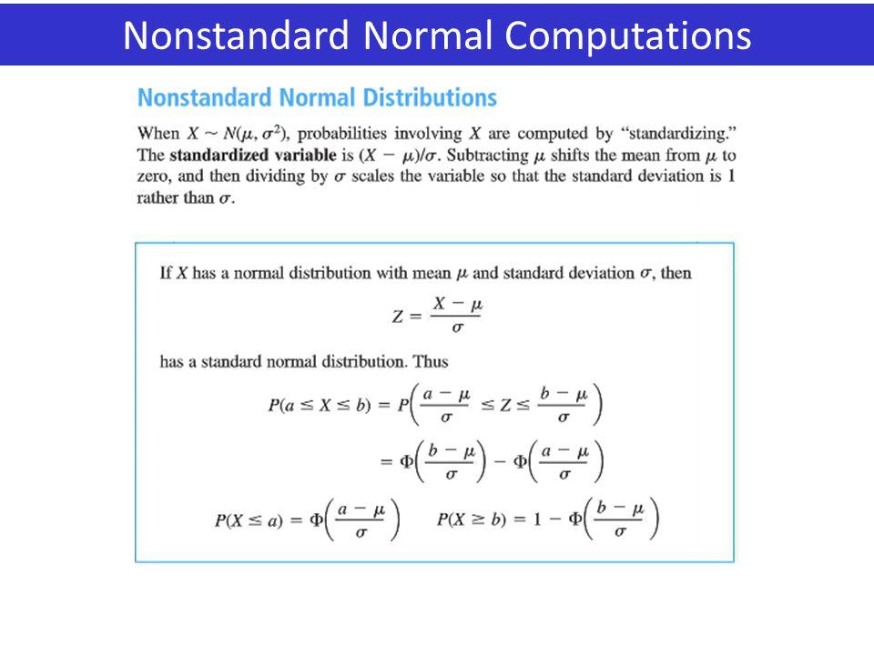 Nonstandard Normal Computations