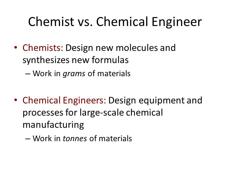 Chemist vs.
