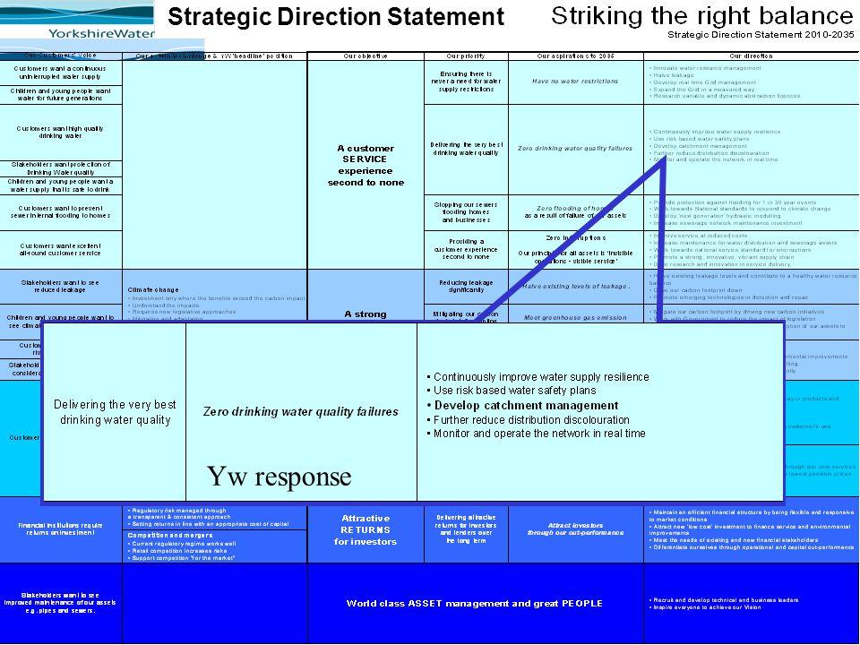 Strategic Direction Statement Yw response
