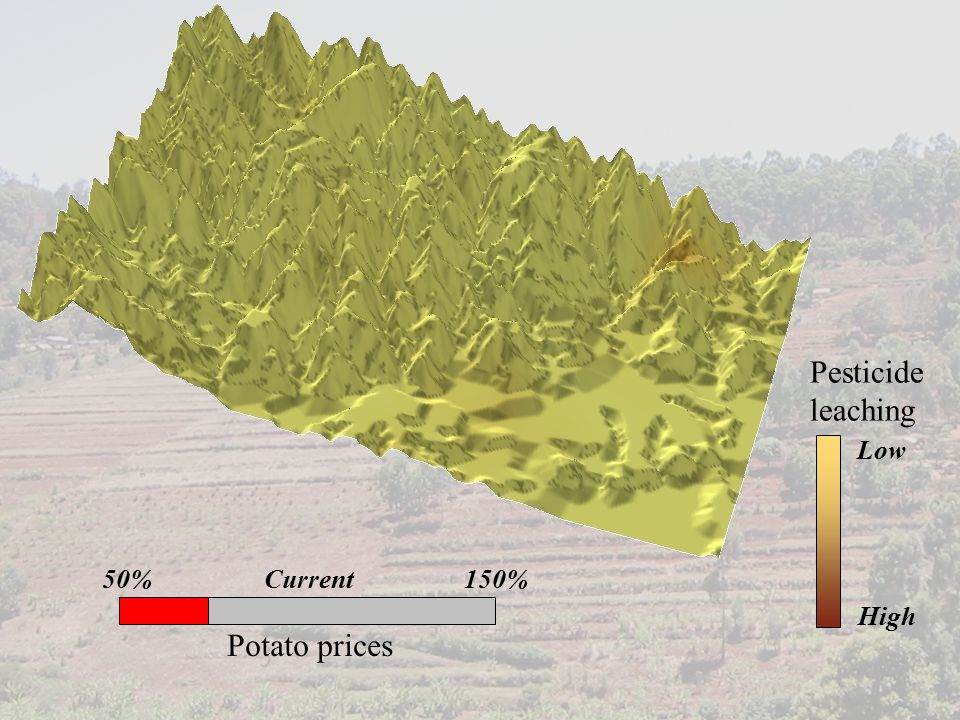 Potato prices Pesticide leaching Low High Current150%50%
