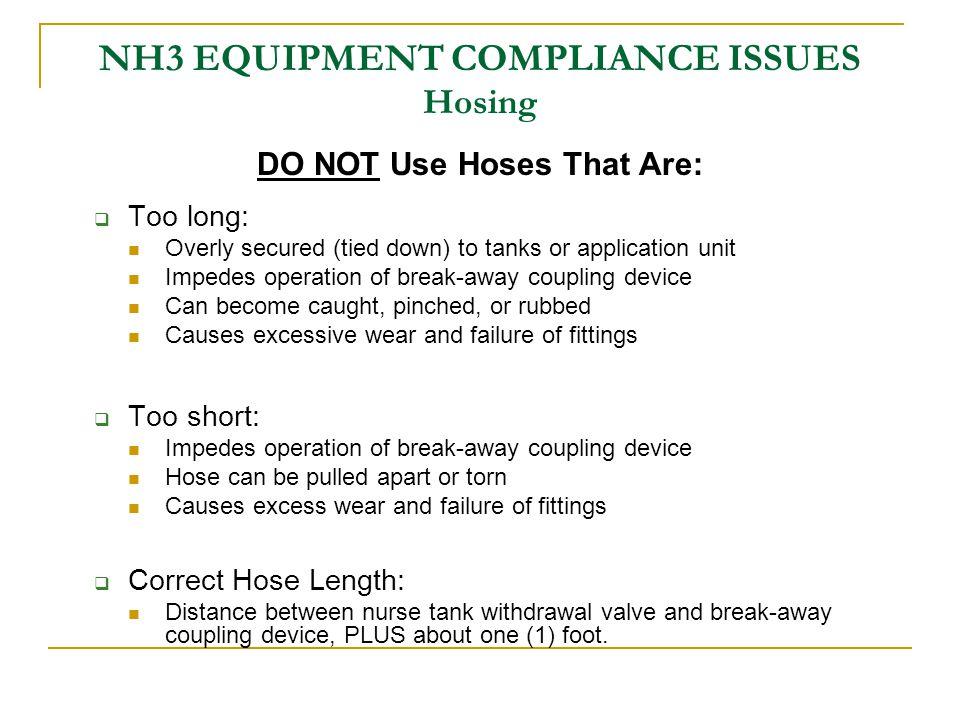 CHECKLIST – Nurse Tank Compliance Inspection checklist is your TOOL for Nurse Tank & NH3 Equipment Compliance Inspection Specification Manual provides details for compliance items in checklist