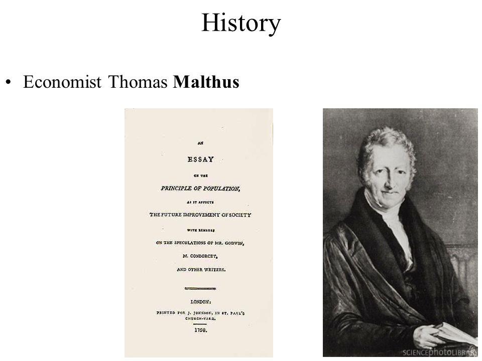 History Economist Thomas Malthus