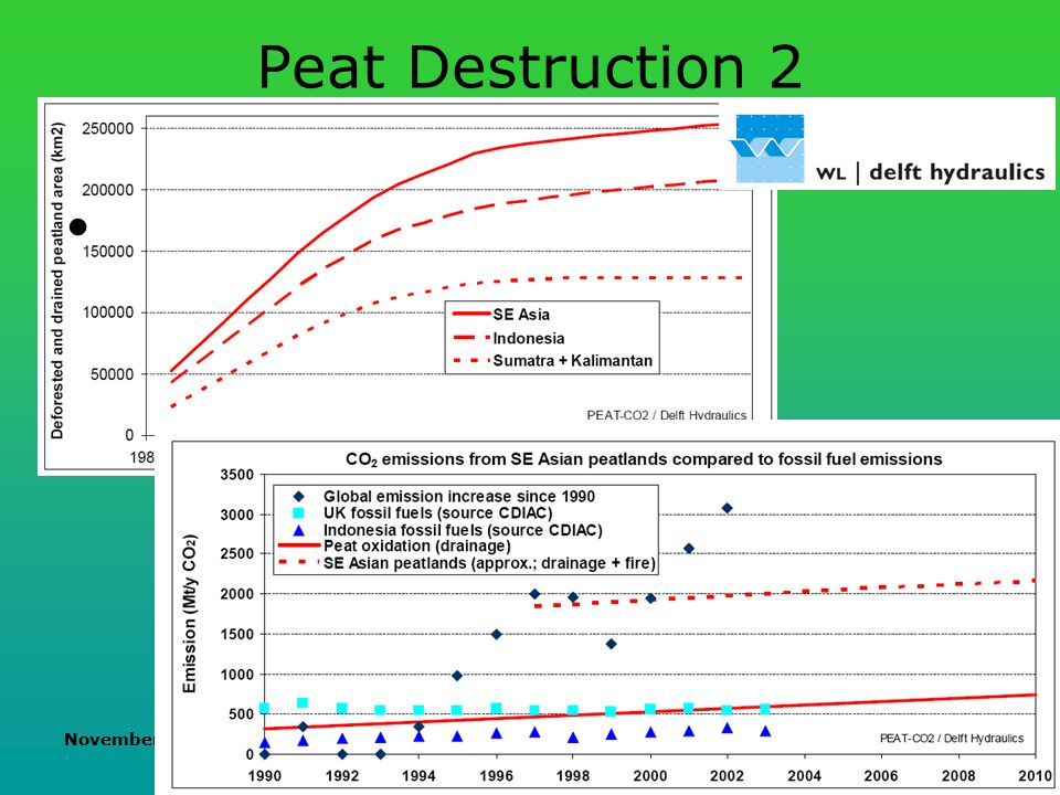 November 2007 Biofuels and their impacts Peat Destruction 2