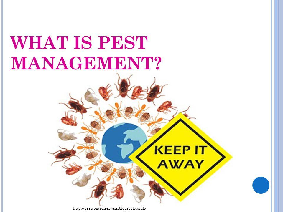 WHAT IS PEST MANAGEMENT? http://pestcontrolservers.blogspot.co.uk/