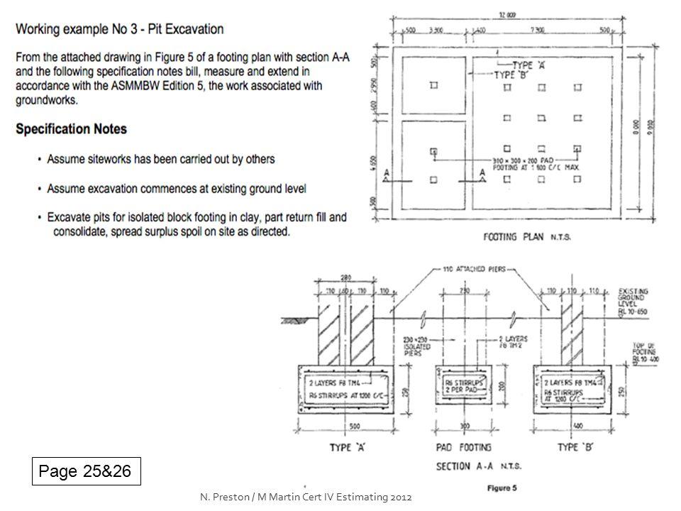 Page 25&26 N. Preston / M Martin Cert IV Estimating 2012