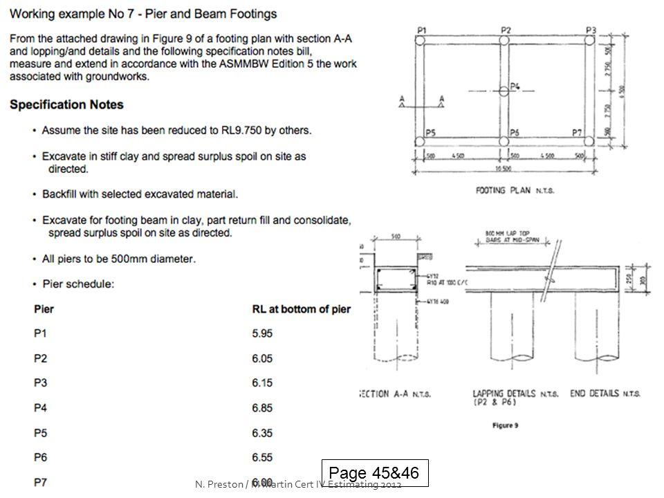 Page 45&46 N. Preston / M Martin Cert IV Estimating 2012