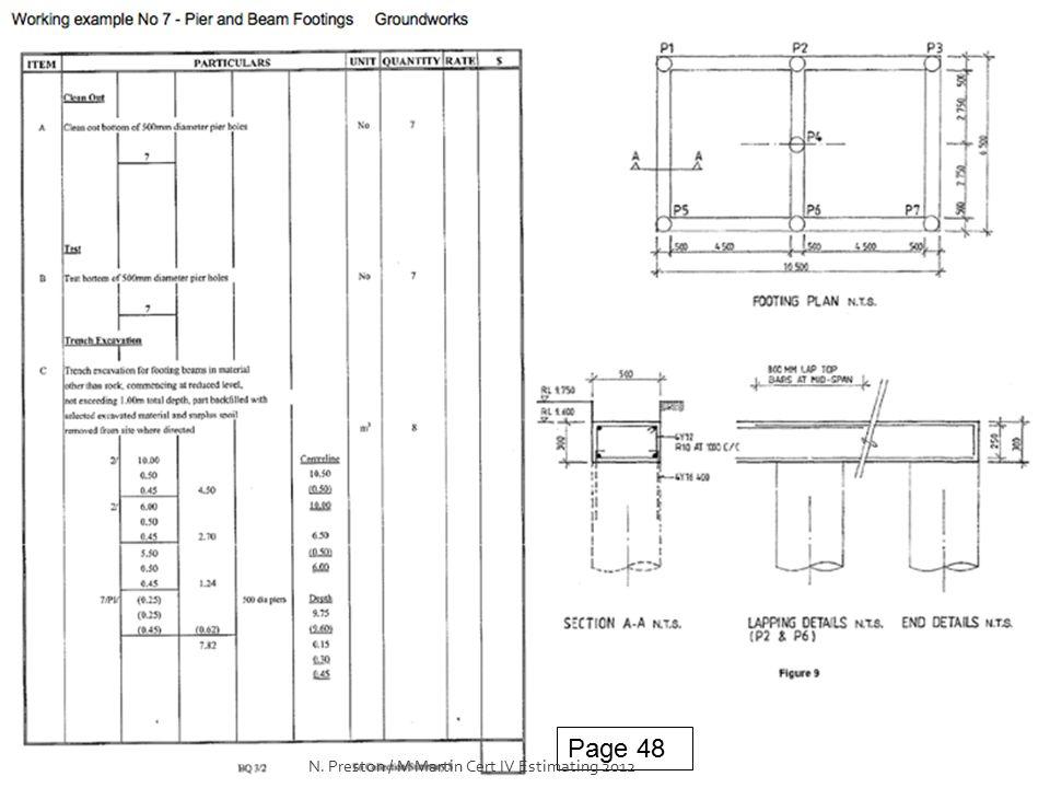 Page 48 N. Preston / M Martin Cert IV Estimating 2012