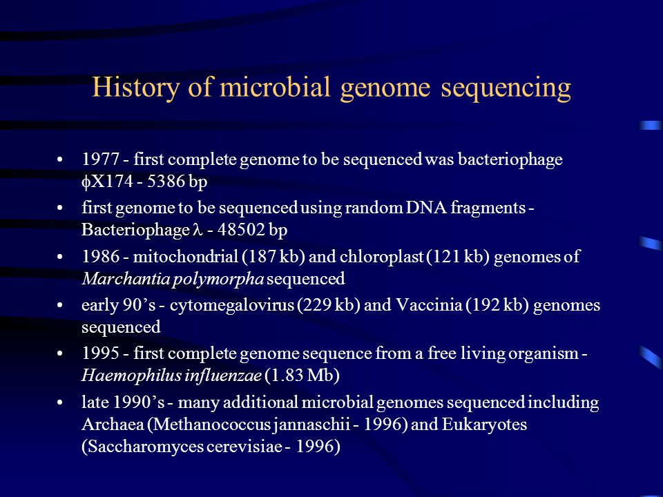 Summary Microbial genome sequencing and analysis is a rapidly expanding and increasingly important strand of microbiology important information about the specific adaptations and evolution of an organism can be determined from genome sequencing however, genome sequencing merely a strong starting point on road to completely understanding the biology of microorganisms further characterisation of ORF's of unknown function, in combination with gene expression analysis and proteomics is required