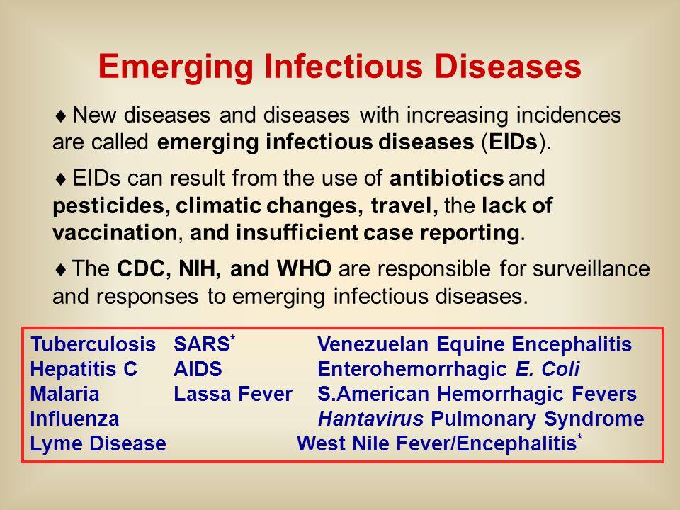 Tuberculosis SARS * Venezuelan Equine Encephalitis Hepatitis C AIDS Enterohemorrhagic E.