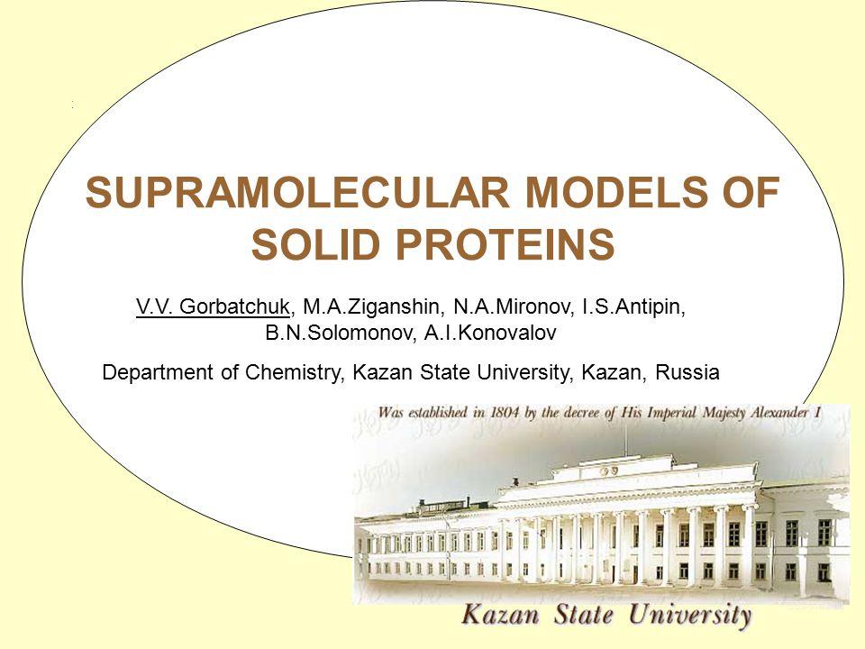 TitleTitle SUPRAMOLECULAR MODELS OF SOLID PROTEINS V.V.