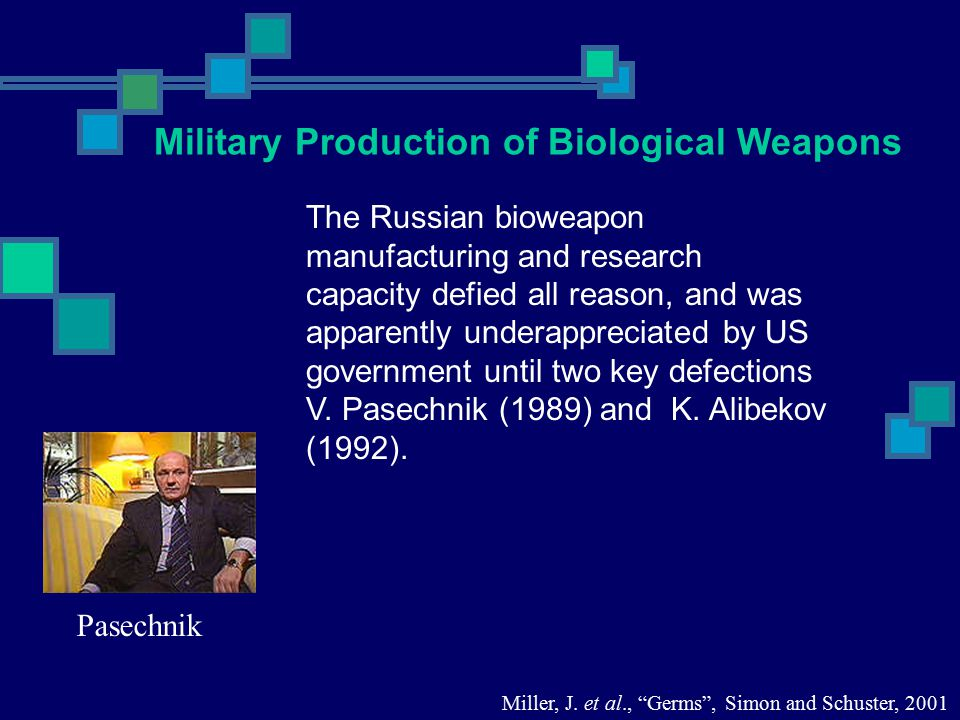 The Russian bioweapon manufacturing and research capacity defied all reason, and was apparently underappreciated by US government until two key defect