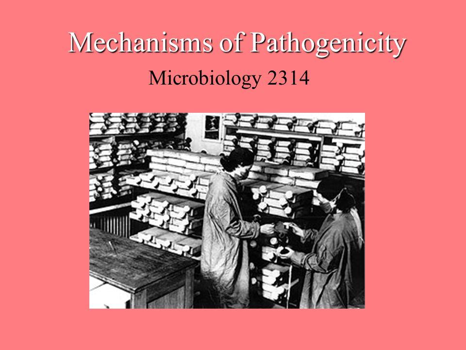 Mechanisms of Pathogenicity Microbiology 2314