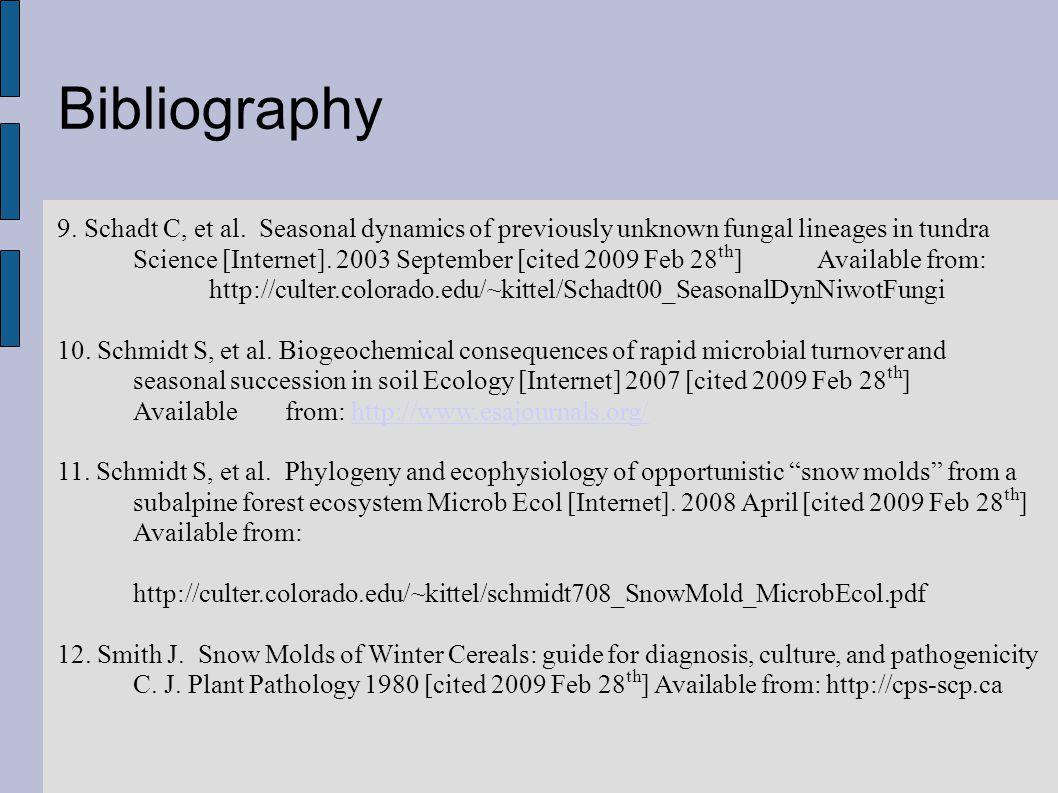 Bibliography 9. Schadt C, et al.