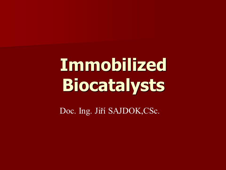 Immobilized Biocatalysts Doc. Ing. Jiří SAJDOK,CSc.