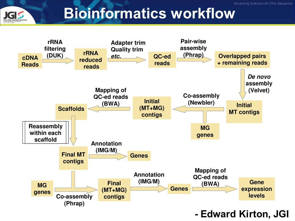 Advancing Science with DNA Sequence Bioinformatics workflow - Edward Kirton, JGI