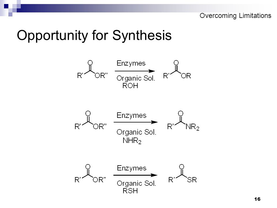 16 Opportunity for Synthesis Overcoming Limitations