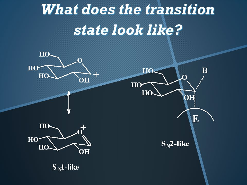 What does the transition state look like