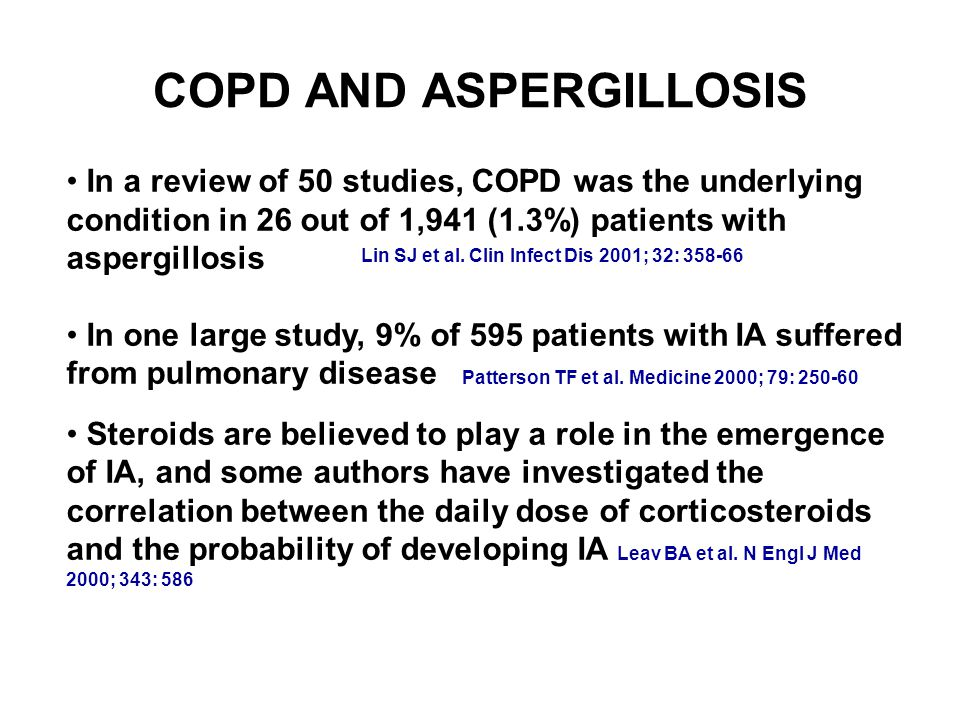 COPD AND ASPERGILLOSIS Lin SJ et al.
