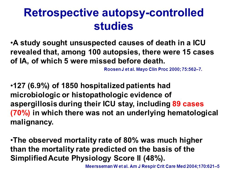 Rapid progression of IC: a reason for suspecting Candida infection in the ICU Garey KW et al.