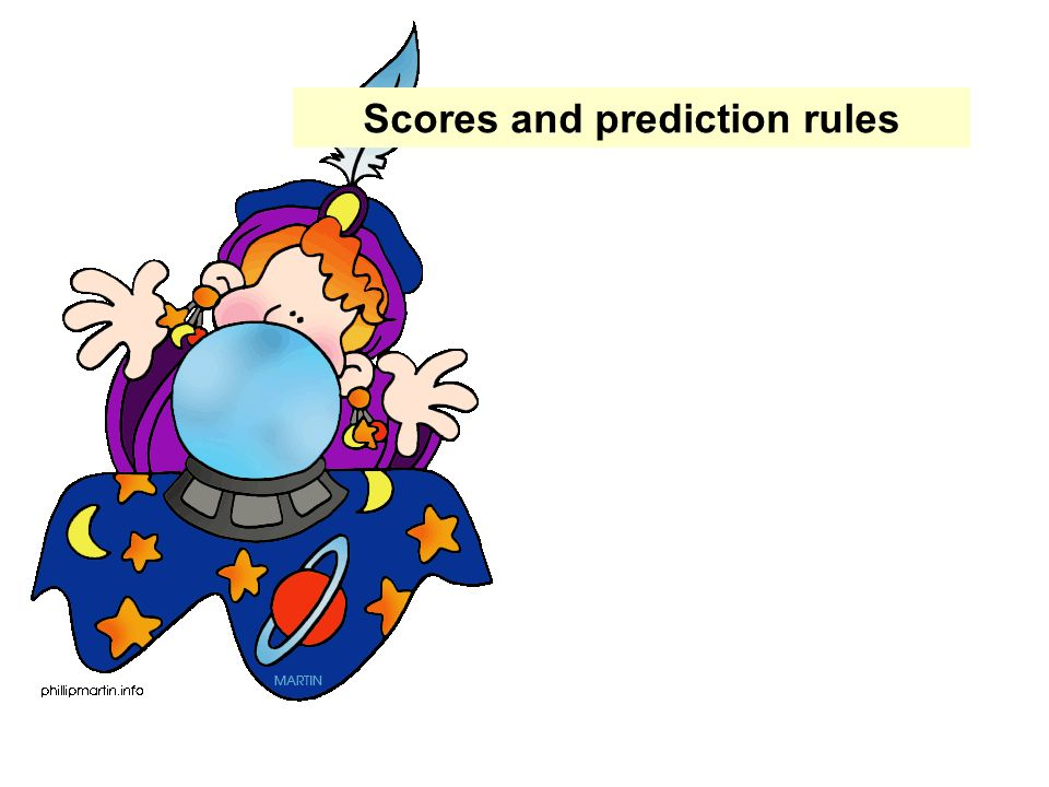 Scores and prediction rules