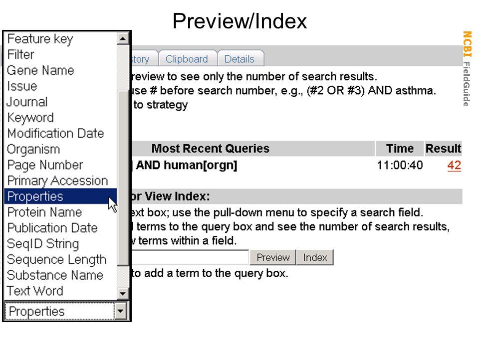 NCBI FieldGuide Preview/Index