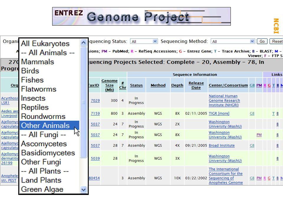 NCBI FieldGuide Genome Projects: microb