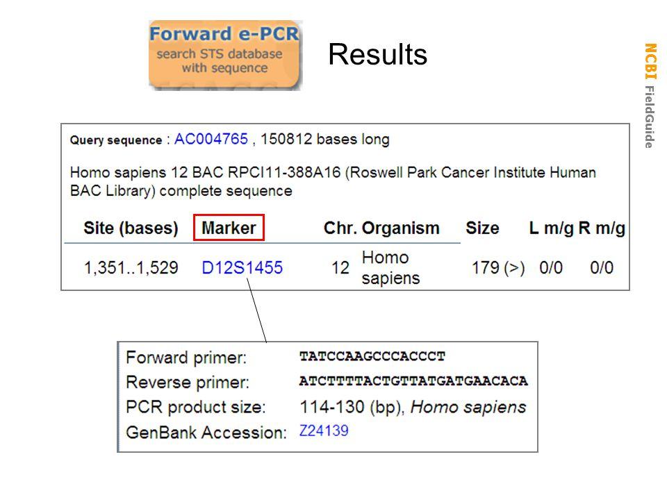 NCBI FieldGuide Results