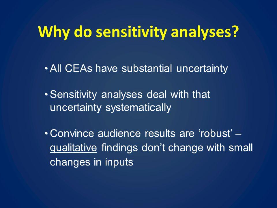 Why do sensitivity analyses.