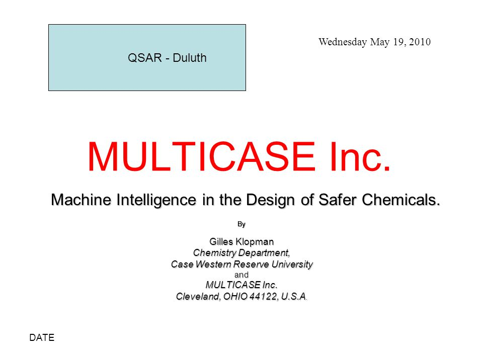 DATE CASE DIRECTORY CARCINOGENICITY A0C - Rod.carc- Rodents- Gold - 433 A0D - Rat carcin.