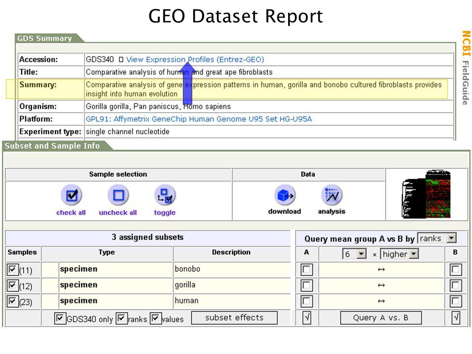 NCBI FieldGuide GEO Dataset Report