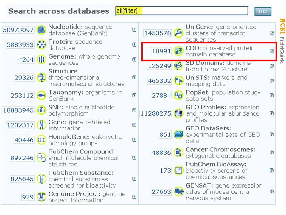 NCBI FieldGuide Entrez CDD