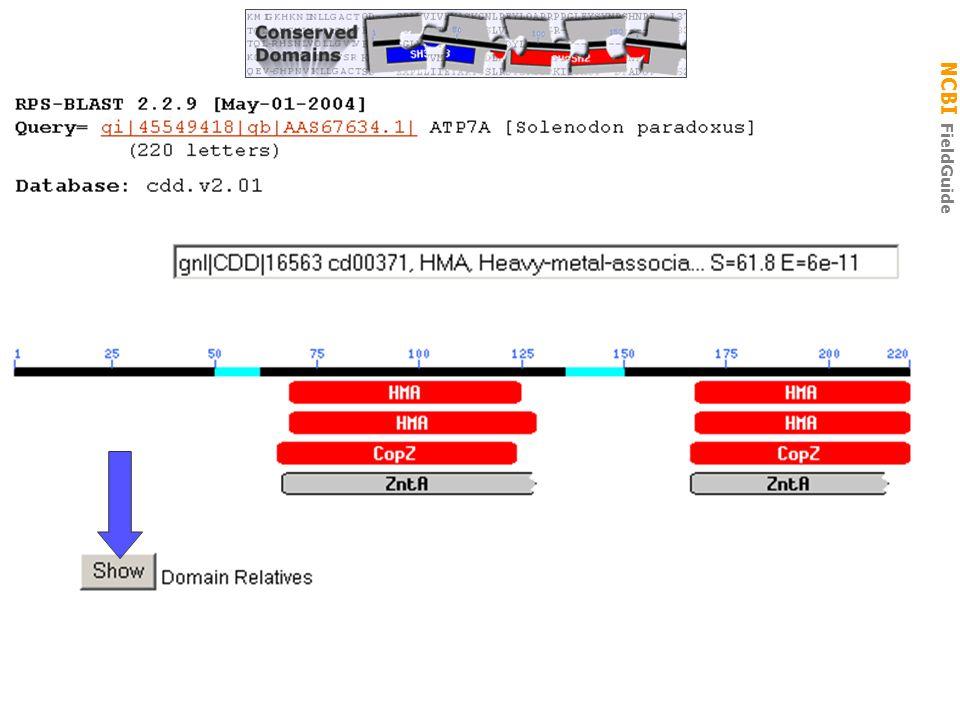 NCBI FieldGuide CDD