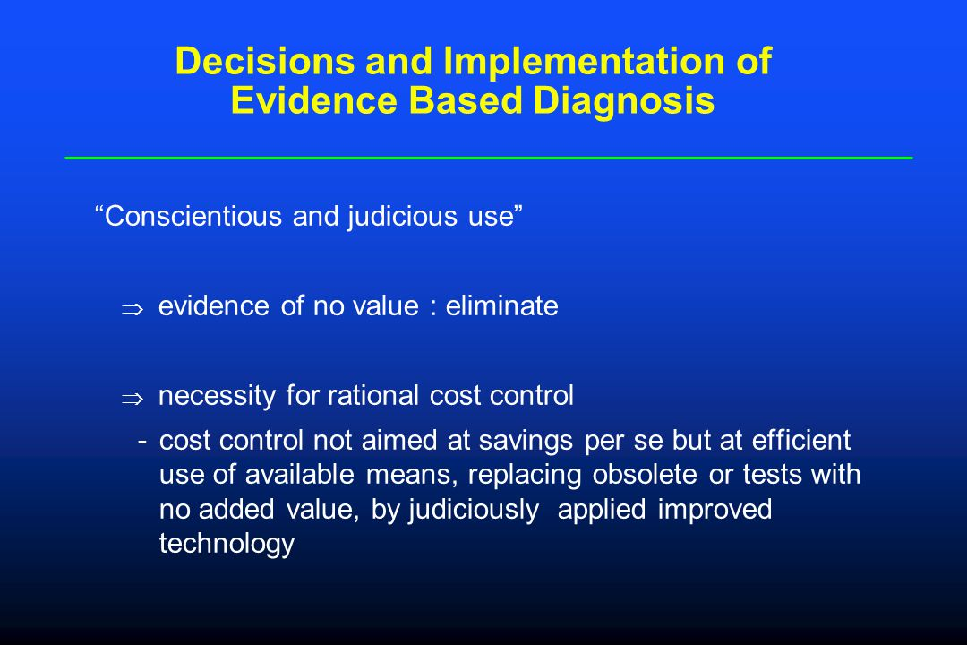 Critical Appraisel about Evidence Based Diagnostics Is the evidence about the accuracy of the diagnostic test valuable.