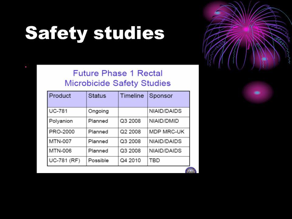 Safety studies Ian McGowan