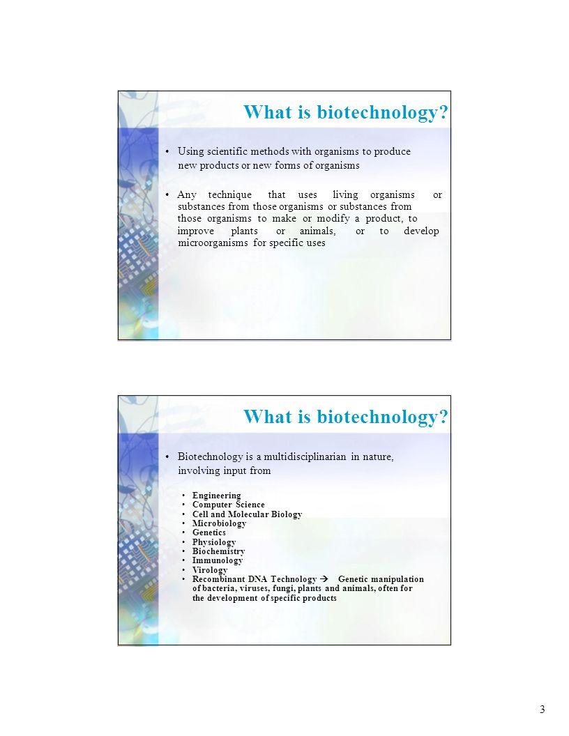 24 Benefits of Biotechnology: 1.