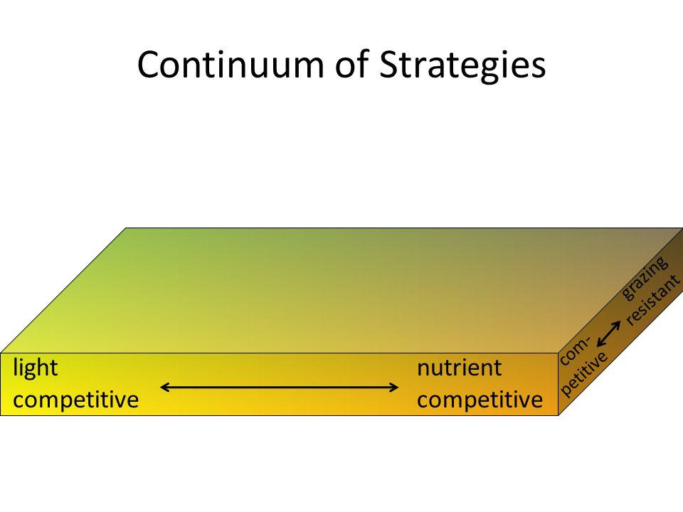 light competitive nutrient competitive grazing resistant com- petitive