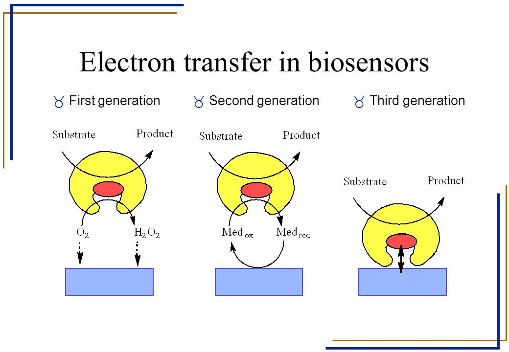 Electron transfer in biosensors _ First generation_ Second generation_ Third generation