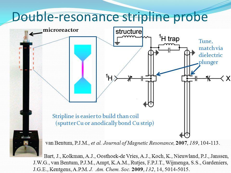 Double-resonance stripline probe van Bentum, P.J.M., et al.
