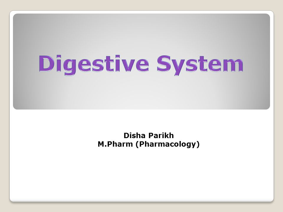  The digestive system comprises of alimentary canal or gastrointestinal tract (GIT) and some accessory organs.
