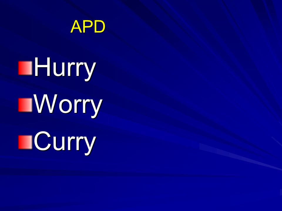 APD HurryWorryCurry