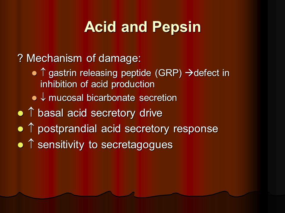 Acid and Pepsin .